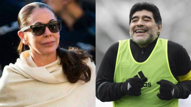 Isabel Pantoja y Diego Maradona