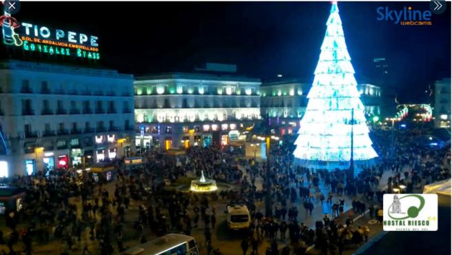 Imagen de la Puerta del Sol este sábado.