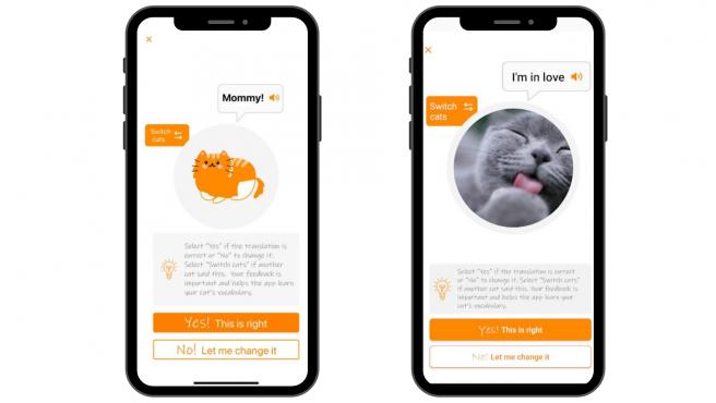"""La app incluye frases como """"¡Aliméntame!"""", """"¡Estoy enojado!"""" o """"¡Déjame solo!""""."""