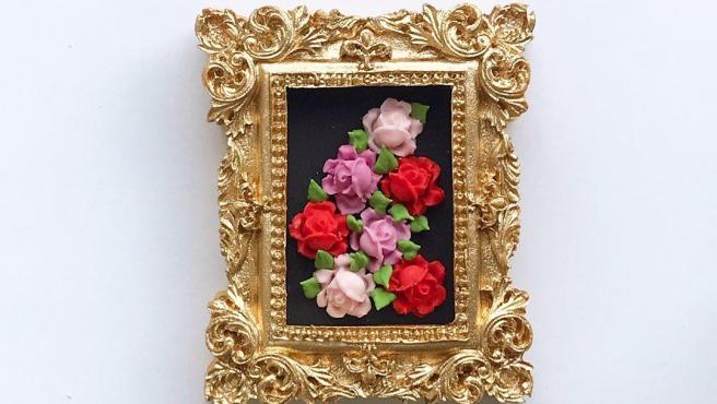 Galletas decorada con forma de cuadro.