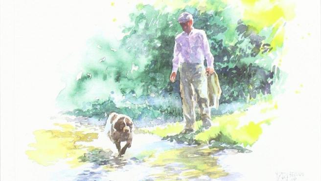 Portada del libro 'Mis perros', por Miguel Delibes.