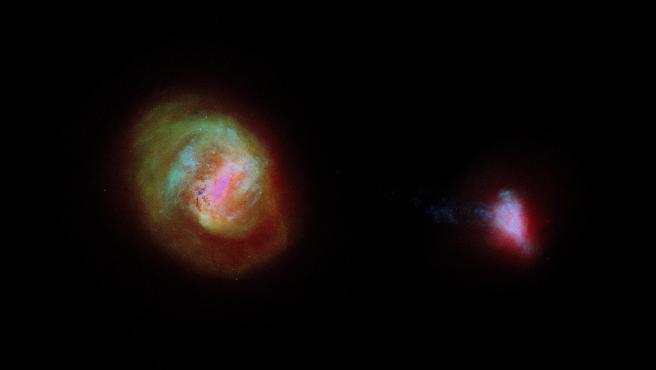 Vista desde Gaia de las galaxias en la vecindad de la Vía Láctea.