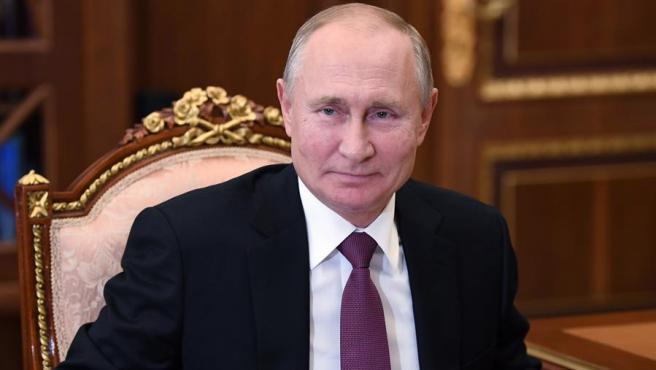El presidente ruso Vladimir Putin durante una reunión en el Kremlin