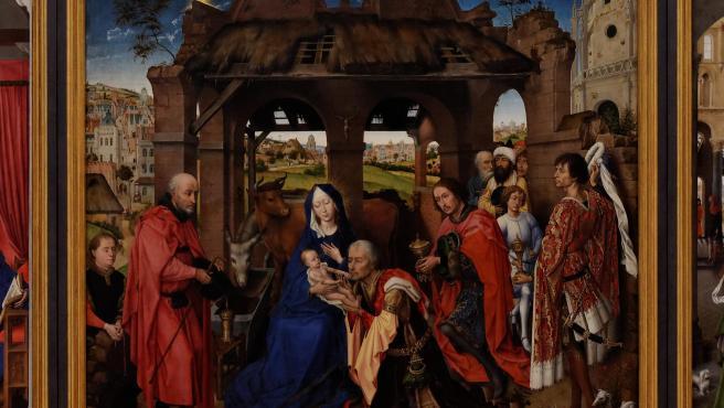 Tríptico del altar de Santa Columba, del pintor flamenco Rogier van der Weyden.