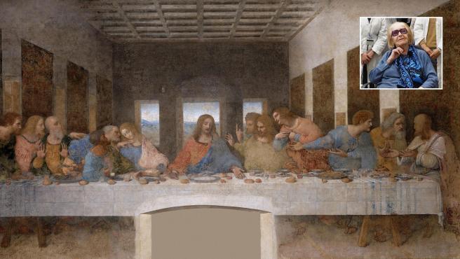 Pinin Brambilla, la encargada de restaurar 'La Última Cena', y dicho cuadro.