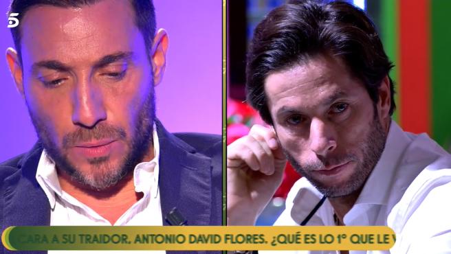 Antonio David y José Antonio Canales Rivera, en 'Sálvame'.