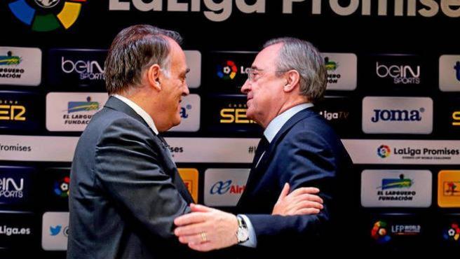 Javier Tebas y Florentino Pérez