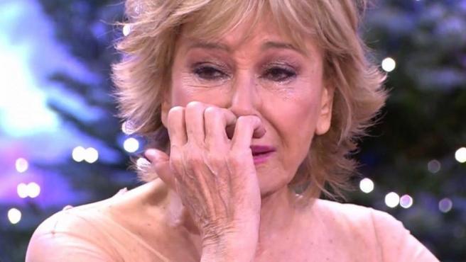 Mila Ximénez se emociona en 'La última cena'.
