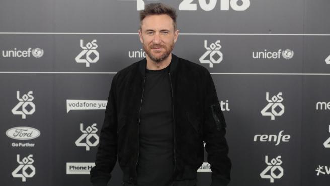 David Guetta en los '40 Principales Music Awards 2018'.