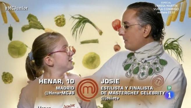 Henar y Josie, en 'MasterChef Junior 8'.