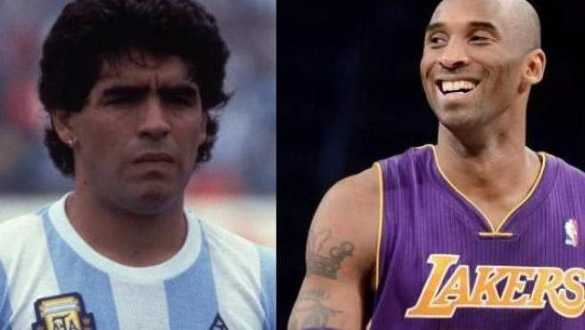 Maradona y Kobe Bryant.