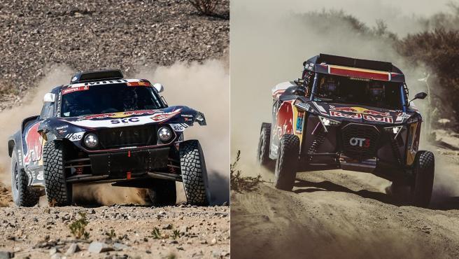Carlos Sainz y Cristina Gutiérrez, en el Dakar 2021