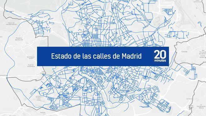 Mapa de calles abiertas en Madrid