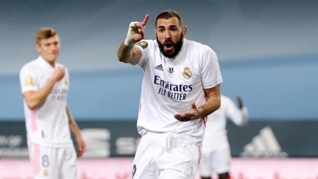 Karim Benzema, en un partido del Real Madrid.