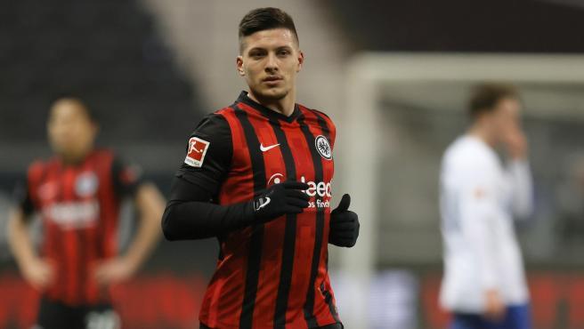 Luka Jovic en su vuelta al Eintracht Frankfurt