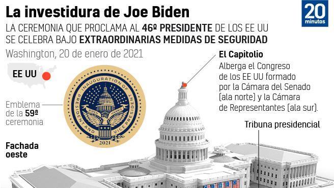 Así será la investidura de Joe Biden