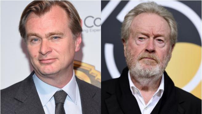 Christopher Nolan y Ridley Scott