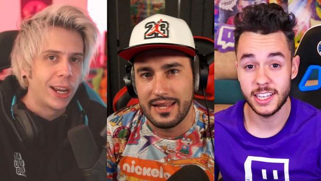 Los 'youtubers' El rubius, Lolito y The Grefg.