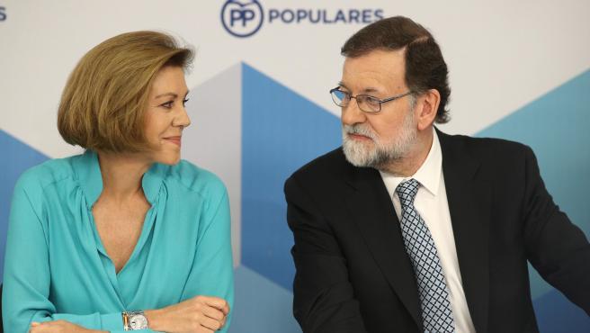 Mariano Rajoy i María Dolores de Cospedal (arxiu)