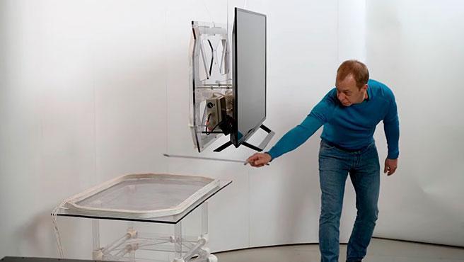 El sistema de transmisión se puede colocar dentro de un mueble sin afectar a la alimentación inalámbrica.