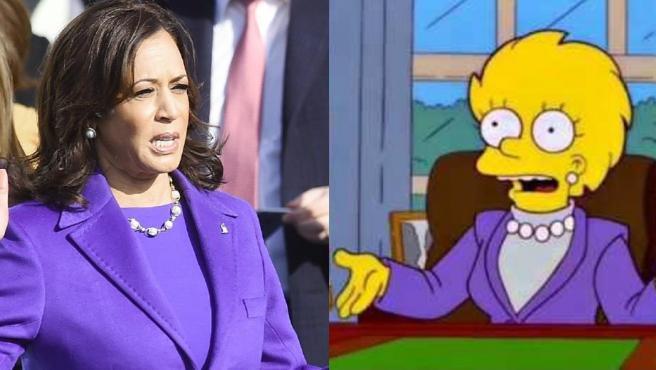 Kamala Harris, en la investidura de Joe Biden y Lisa Simpson.