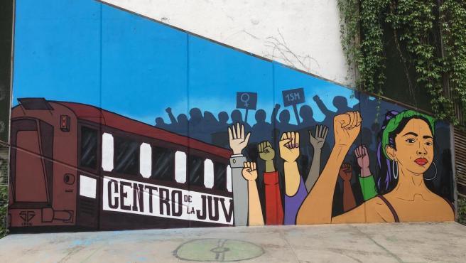 mural feminista que será repintado a propuesta de Vox.