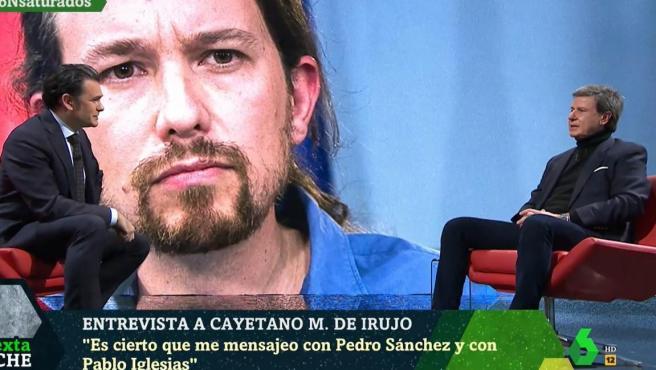 Cayetano Martínez de Irujo, en el plató de la 'laSexta Noche'.