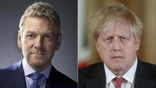 Kenneth Branagh y Boris Johnson