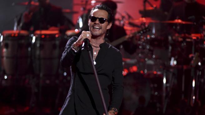 El cantante Marc Anthony, durante su actuación en los Latin American Music Awards, en 2019.