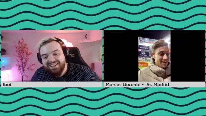 Ibai Llanos con Marcos Llorente
