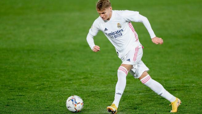 Martin Odegaard, durante un partido del Real Madrid