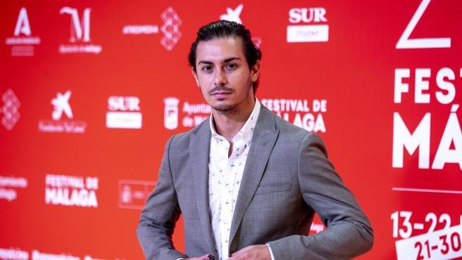 El cantante Alfred García posa en el Festival de Málaga.