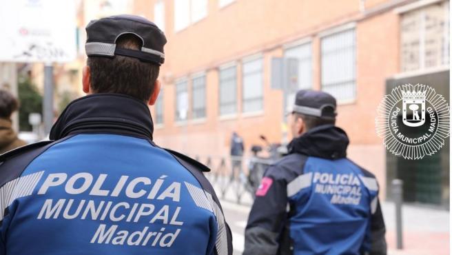 Dos agentes de la Policía Municipal de Madrid en una imagen de archivo.