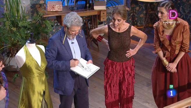 Ana Belén visita el plató de 'Maestros de la costura'