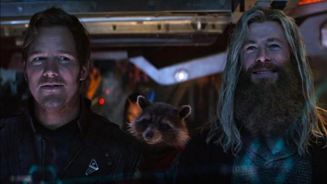 Chris Pratt y Chris Hemsworth en 'Vengadores: Endgame'.