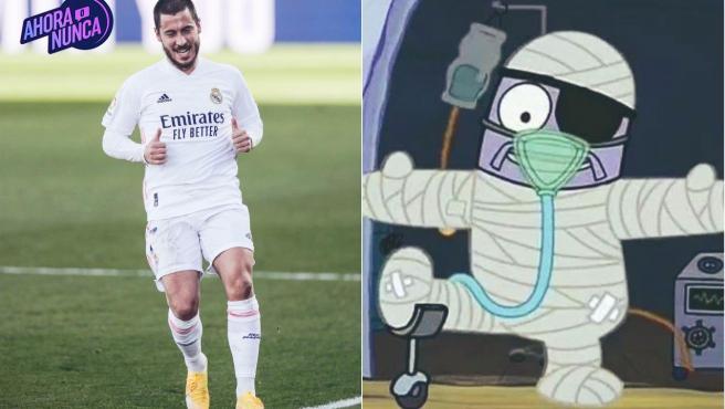 Meme de Eden Hazard por sus lesiones