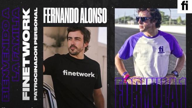 Fernando Alonso, con Finetwork, uno de sus nuevos patrocinadores