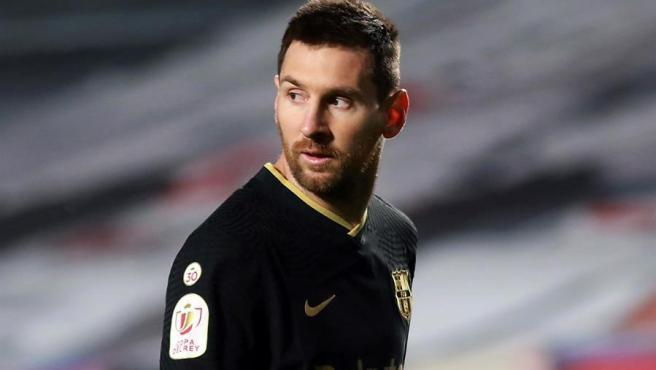 El delantero argentino del FC Barcelona, Leo Messi, durante el encuentro de cuartos de final de la Copa del Rey frente al Granada.