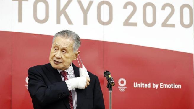 El presidente del comité organizador de los Juegos Olímpicos de Tokio 2020, Yoshiro Mori.