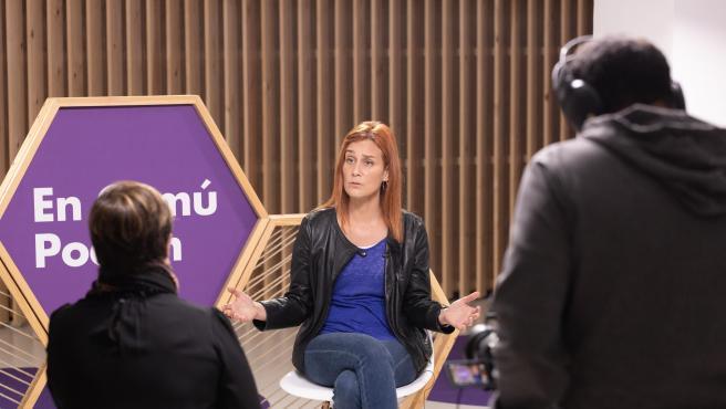 Entrevista con Jéssica Albiach, candidata de En Comú Podem a presidir la Generalitat tras las elecciones del próximo 14-F en Cataluña.