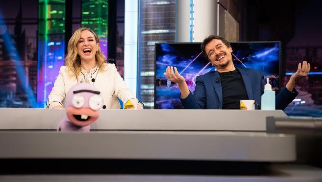 Marta Hazas y Javier Veiga, en 'El hormiguero'.