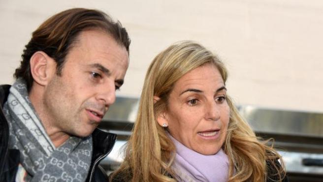 Arantxa Sánchez Vicario y su exmarido, en una imagen de 2016.