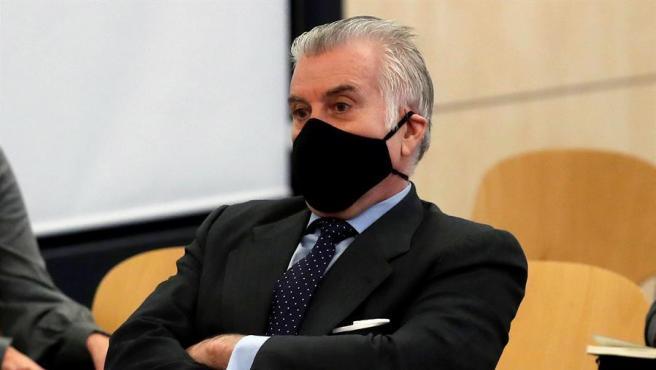 El extesorero del PP Luis Bárcenas, durante el juicio.