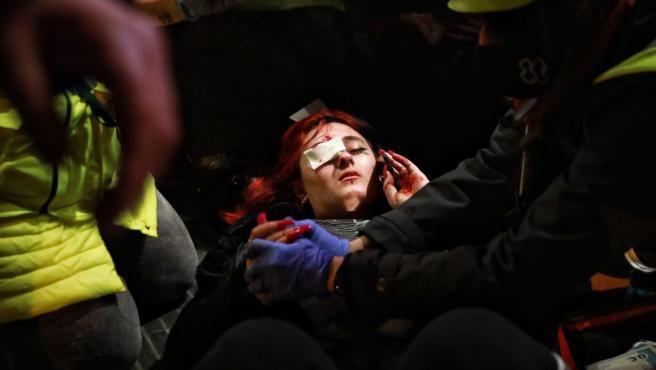 Resultado de imagen para protestas en barcelona POR LA DETENCION DEL RAPERO PABLO