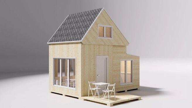 Tienen tres tipos de casas plegables: rústicas, urbanas y compactas.