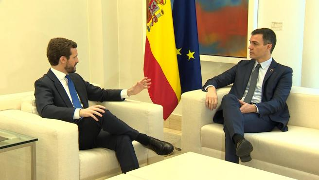 """Sánchez y Casado tienen una """"constructiva conversación"""" sobre CGPJ"""