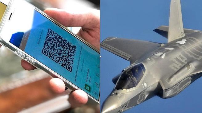 Móviles y un F-35, ambos usa elementos de tierras raras.
