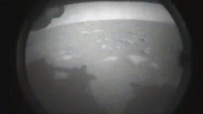 La primera imagen enviada por al Perserverance desde Marte