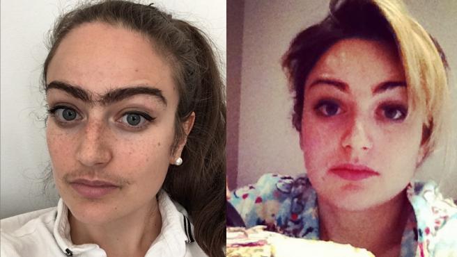 Imagen de Eldina Jaganjac: ahora (izquierda) y antes (derecha).