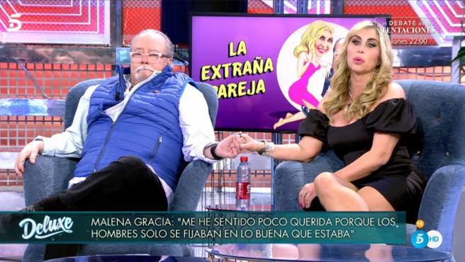 Malena Gracia y Paco Arévalo, en Sábado Deluxe.